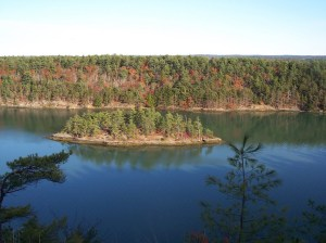 Harpswell Maine Cliff Trail view from the top
