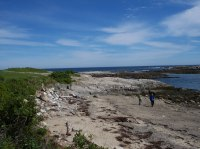 Maine beach on Bailey Island in the town of Harpswell